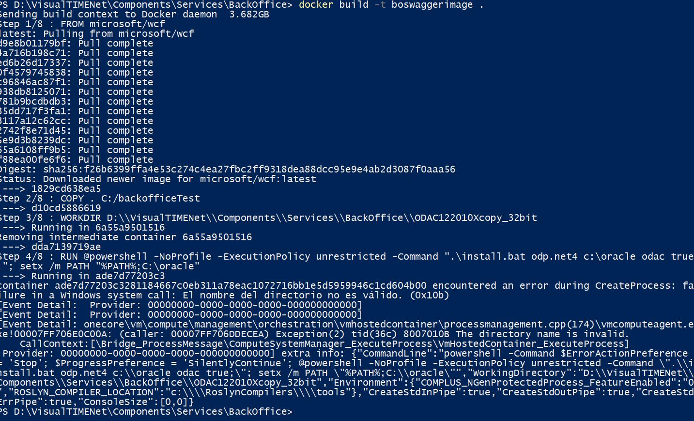 Oracle client ODAC in WCF for docker windows · Issue #3131 · docker