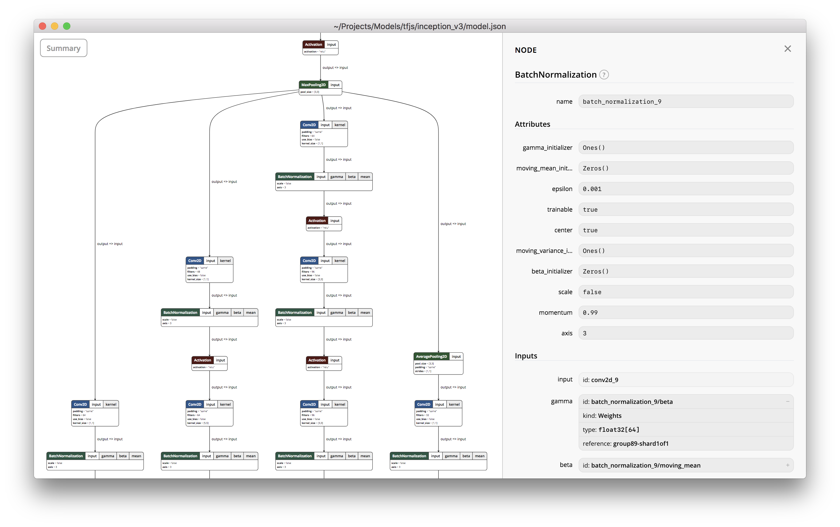 Model zoo for TensorFlow js visualizer · Issue #45