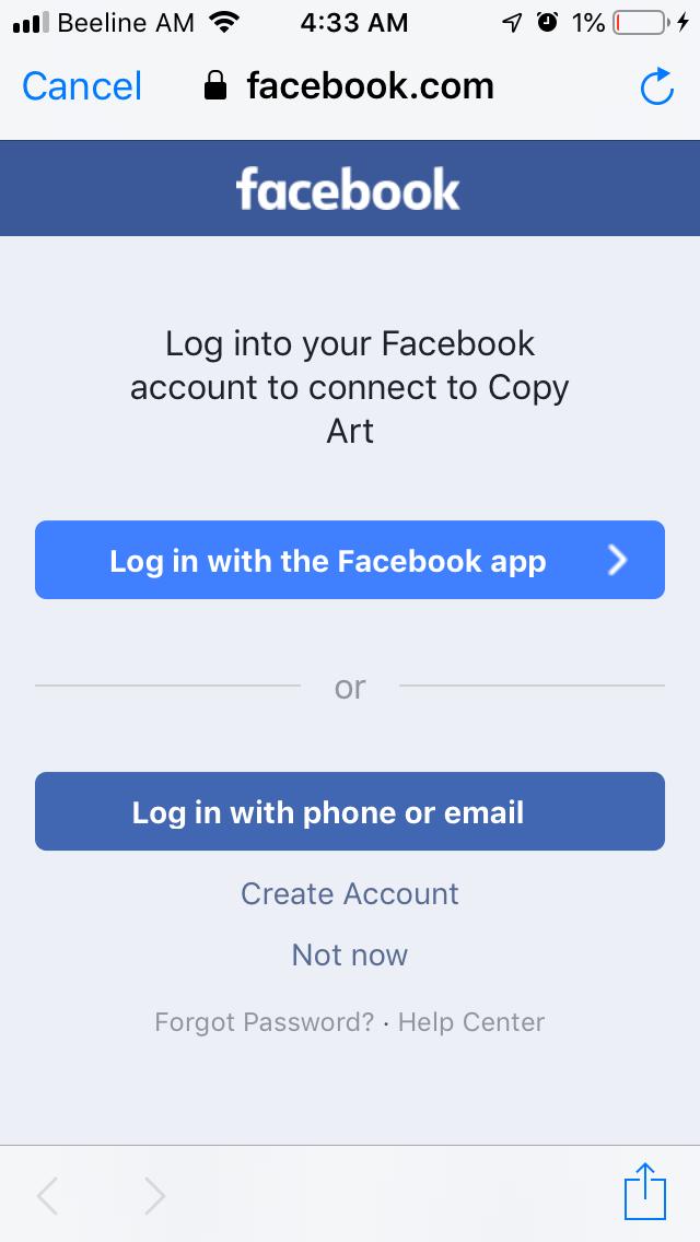 Login webview facebook React Native: