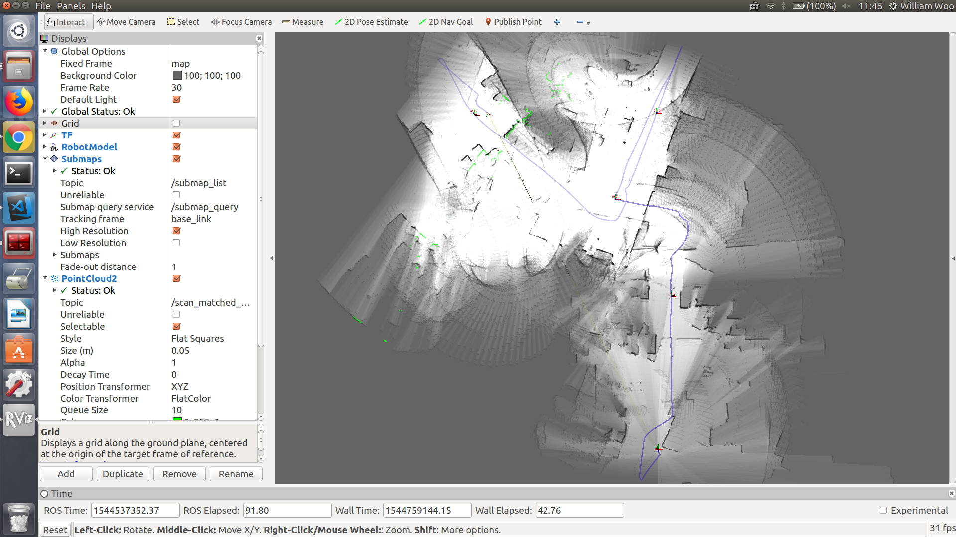 2D pure localization: no matched laser scan showing · Issue