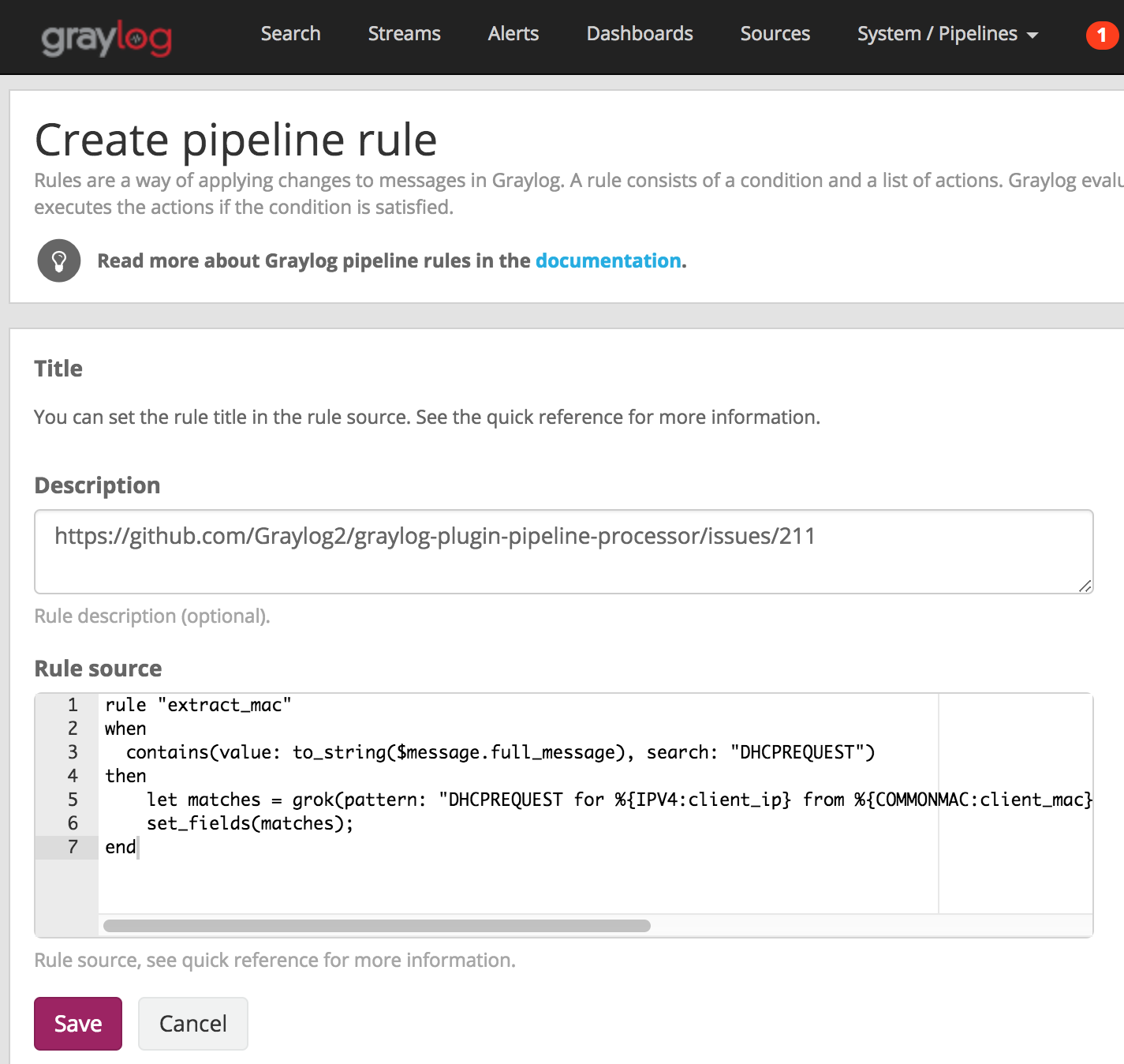 Problem like 24 issue 211 graylog2graylog plugin pipeline createrule1 gumiabroncs Gallery