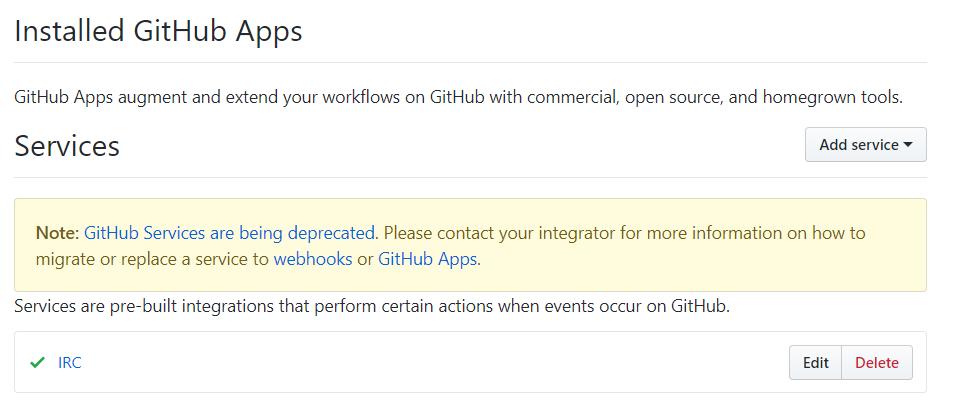 meta: IRC integration via github services deprecated · Issue #20563