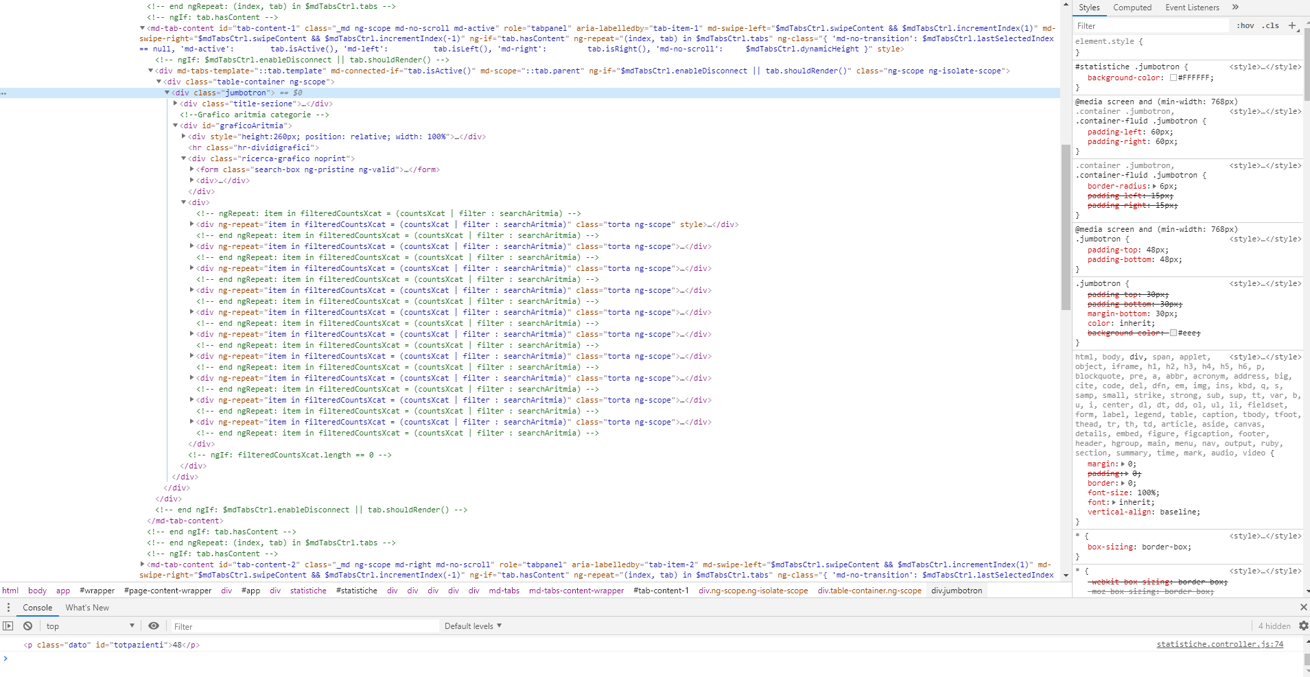 angular-chart js - Bountysource