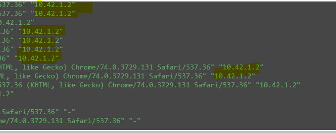 Ingress through default Traefik working but stuck on status
