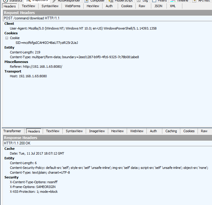 Could not find boundary in multipart/form-data header! Error when ...