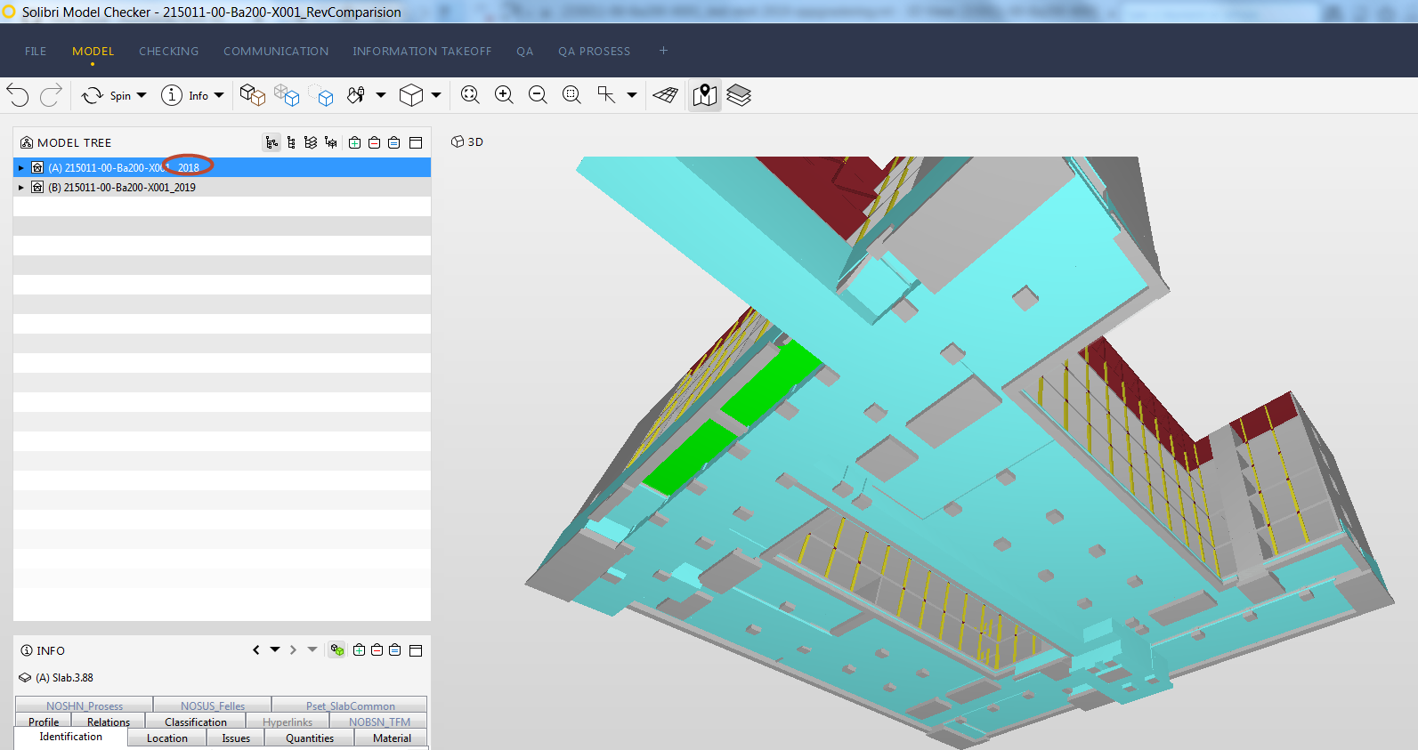 Different IFC export behavior for slab/floor from Revit 2018 and