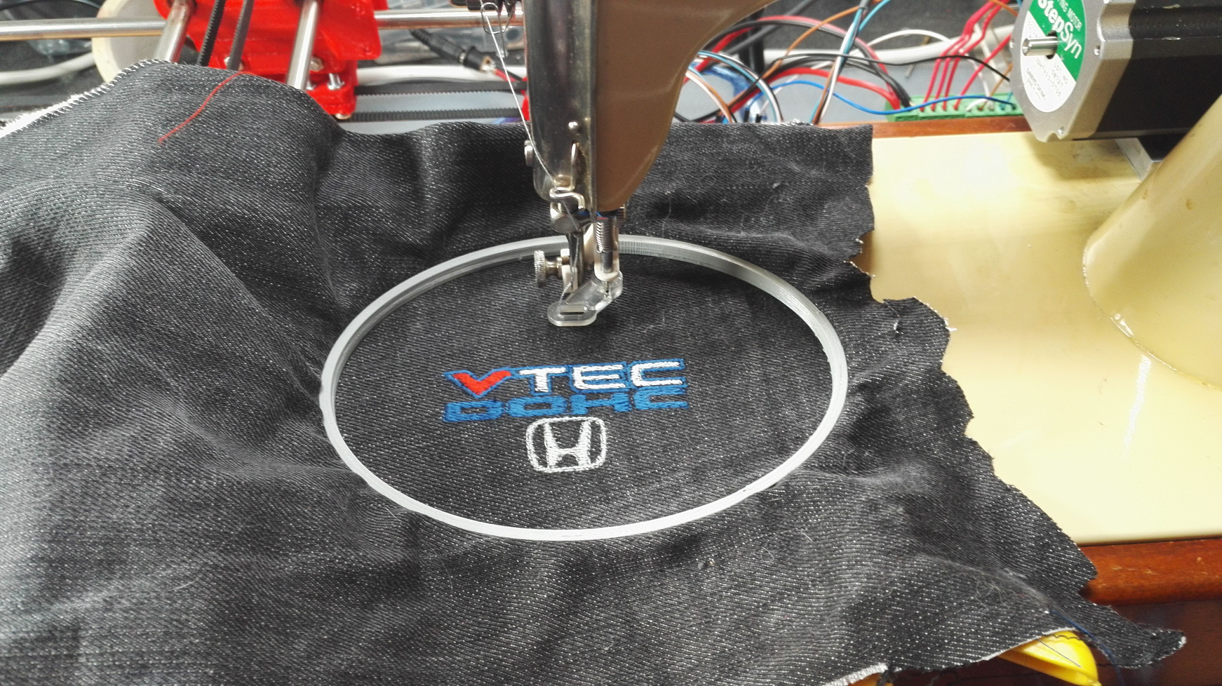 Self-Made Embroidery Machine (Running on G-Code) - Ink/Stitch