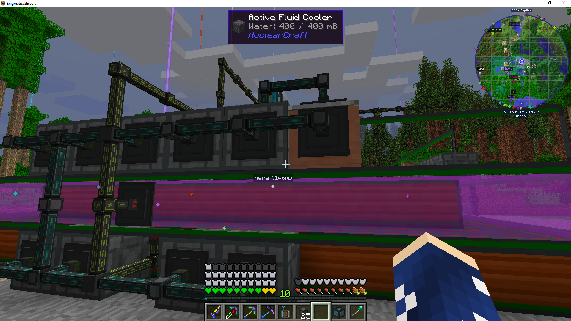 Active cooling with fusion reactor NuclearCraft seem to not