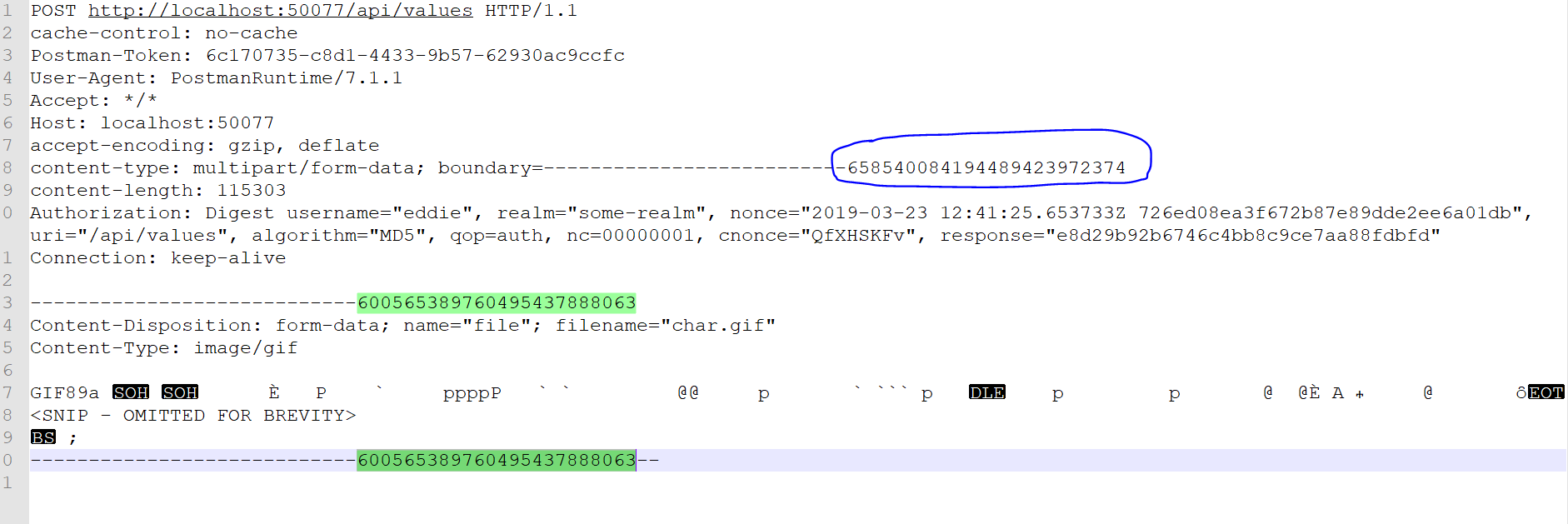 Content Type Boundary Header For Multipart Form Data Is Incorrect When Digest Authentication Is Used Issue 6140 Postmanlabs Postman App Support Github