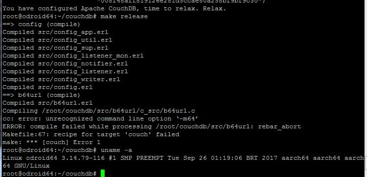 Building CouchDB on arm64-v8a · Issue #892 · apache/couchdb · GitHub