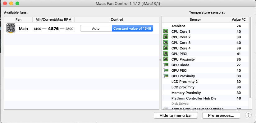 Cannot control fan speed with macOS installed on external HDD(SDD
