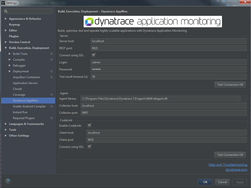 Intellij Using wrong port when collector configured to use