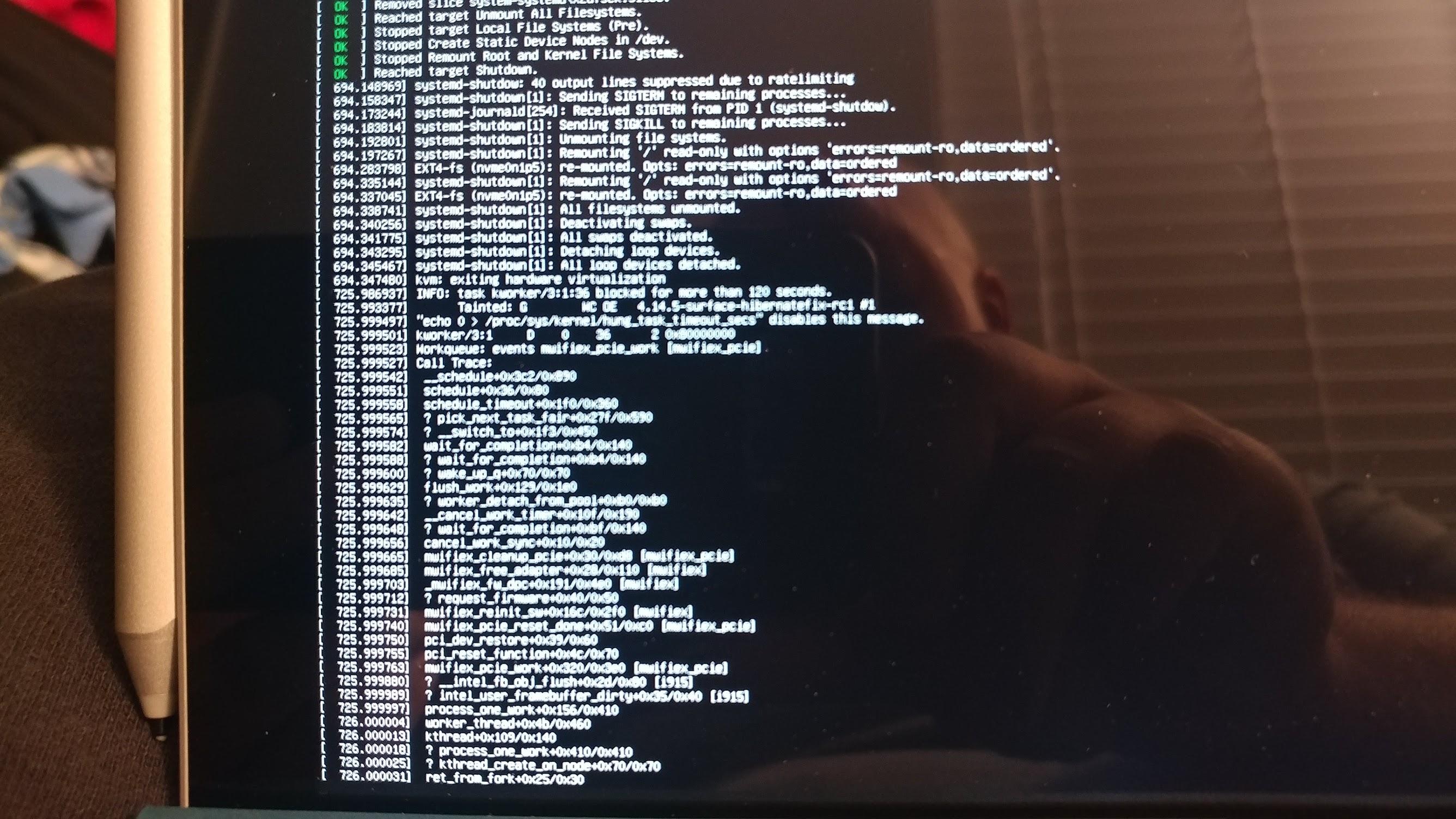 Surface Pro 4: Hibernation is broken on kernel 4 14 3 - 4 18