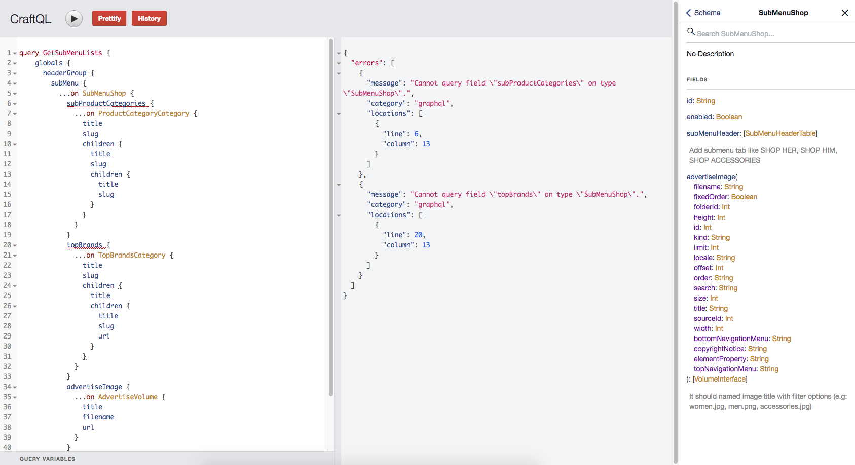 Doesn't fetch categories data in Matrix field with craftql after