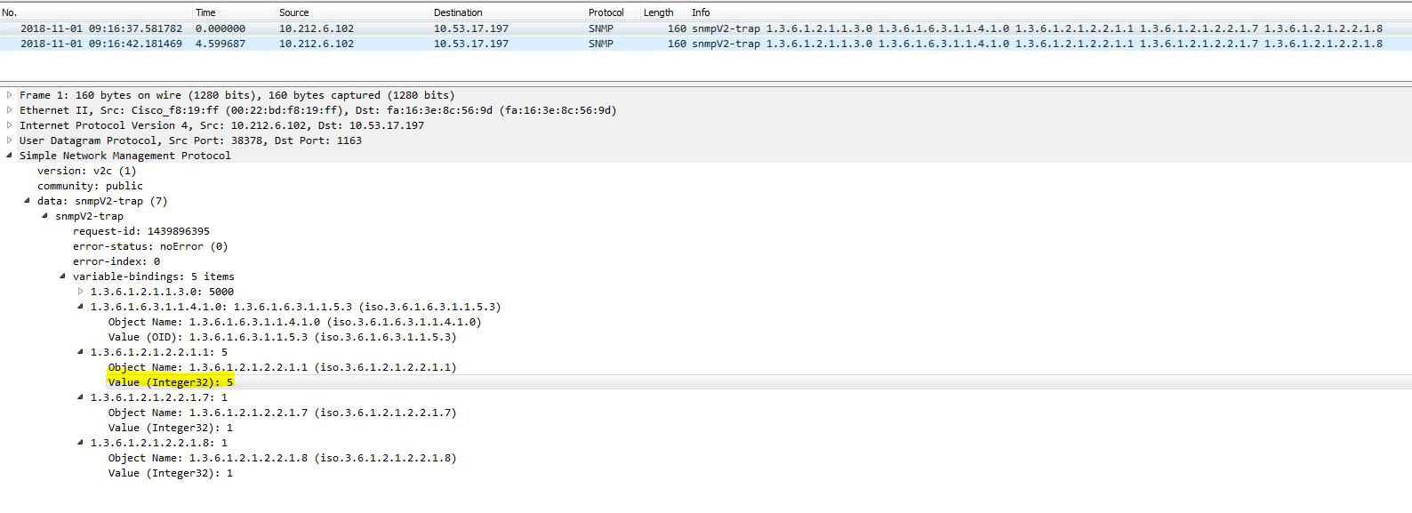 snmp forwarder - hitting ERROR failure sending SNMP