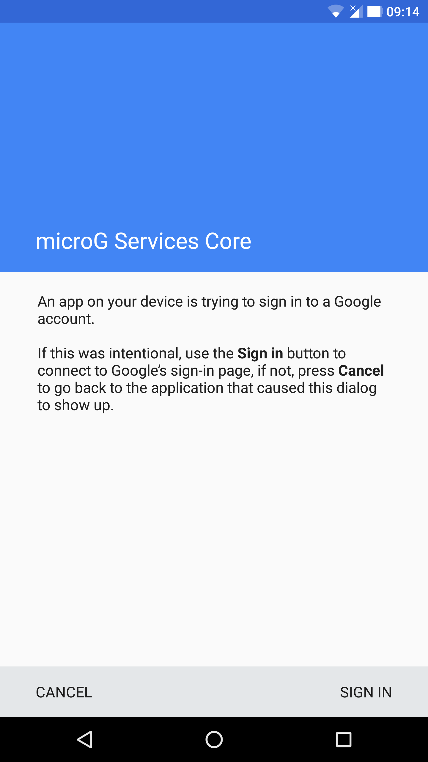 Gmail, Google Duo, Google Play Games are not logging in with microG