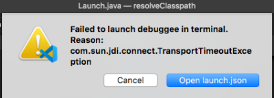Failed to launch debuggee in terminal with