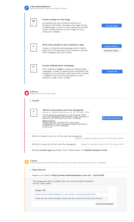Content IDs missing from Facebook Catalogue · Issue #742