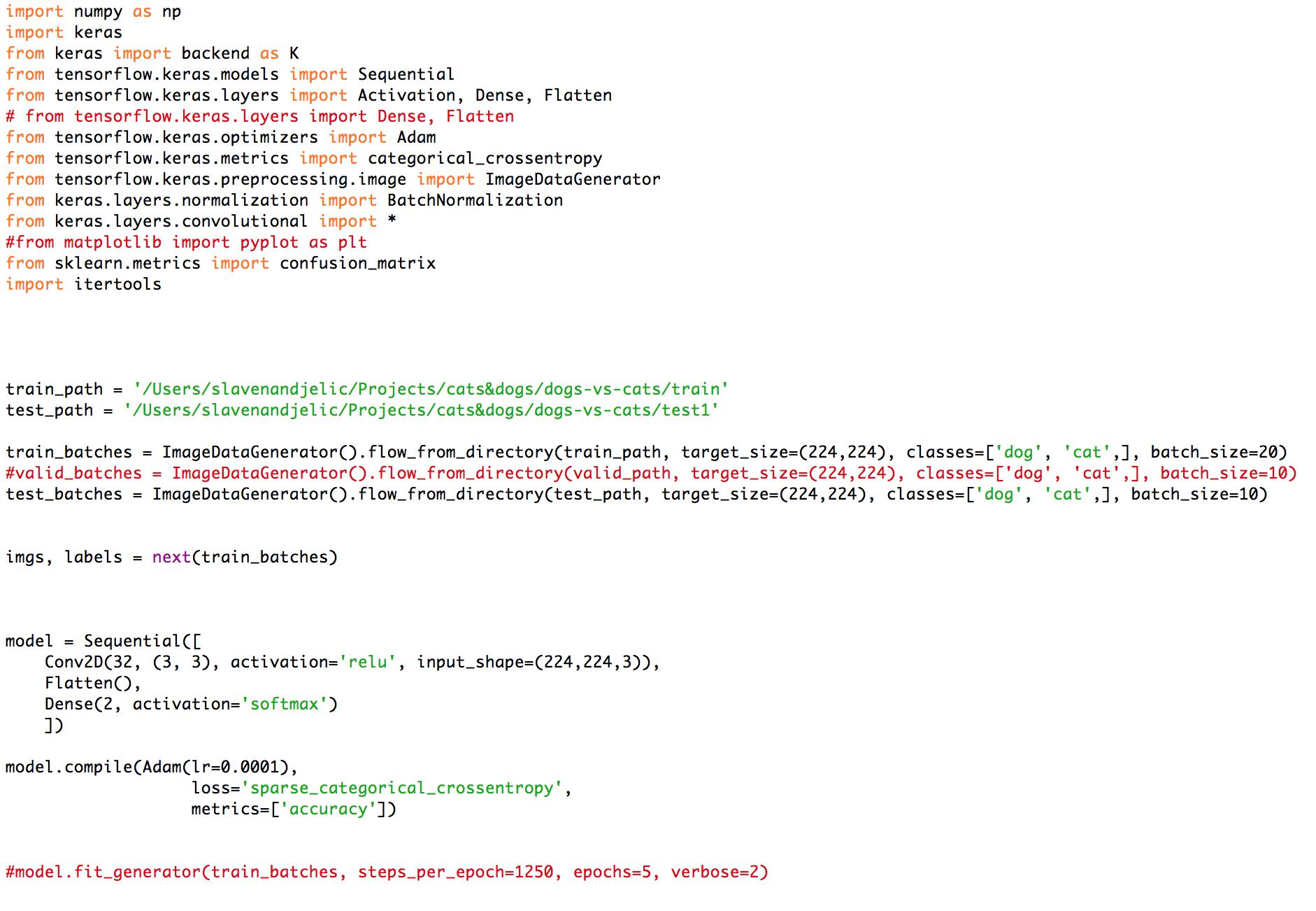 AttributeError: module 'tensorflow' has no attribute