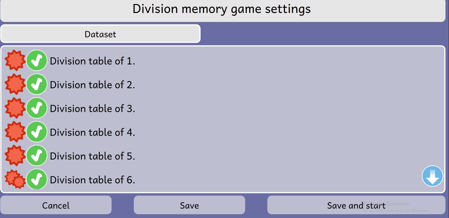 division-memory-game