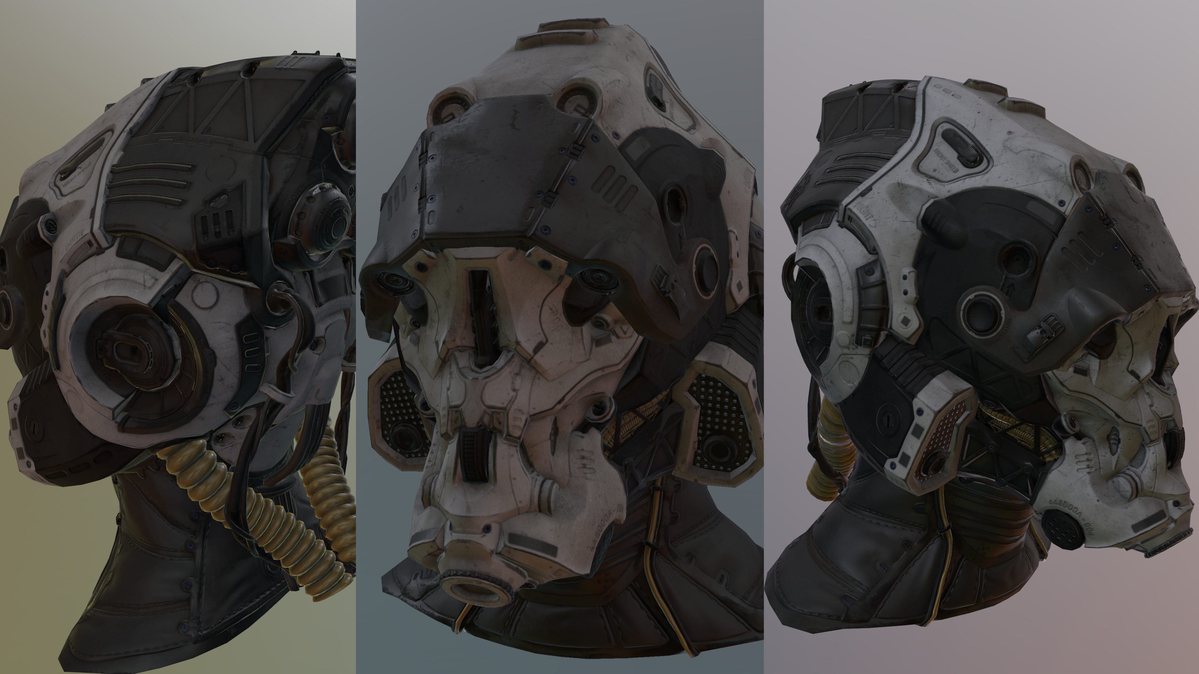 A high res Sci-Fi helmet by @msiglreith