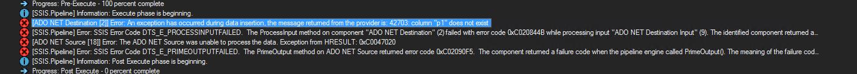 failure on insert