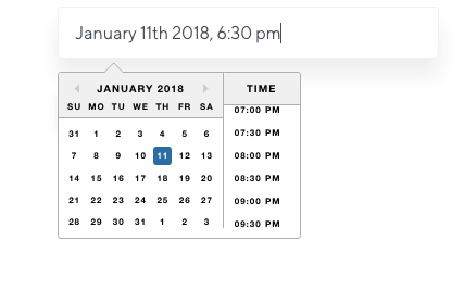 Text and datepicker are very small · Issue #1210