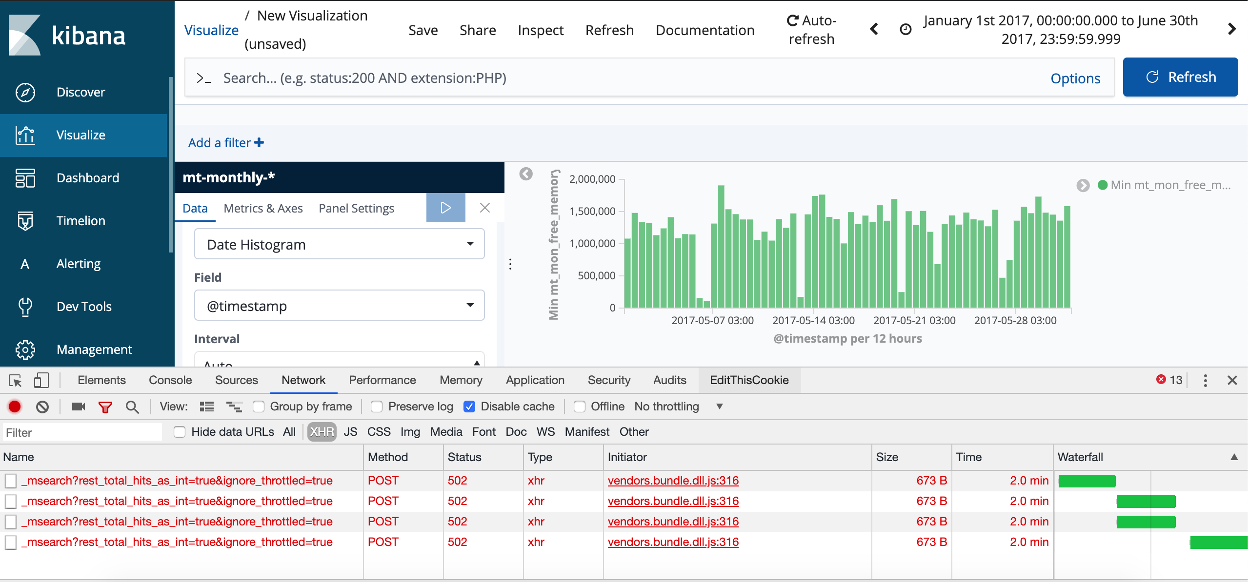Kibana times out after 120s · Issue #14043 · elastic/kibana