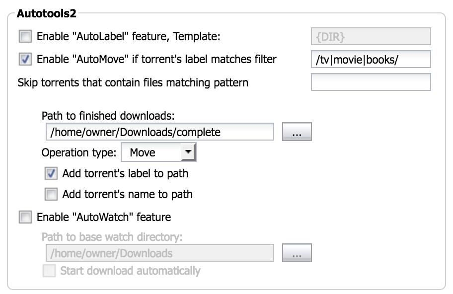 ruTorrent - Bountysource