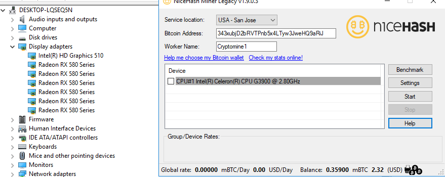 AMD RX580's no longer showing up · Issue #1249 · nicehash