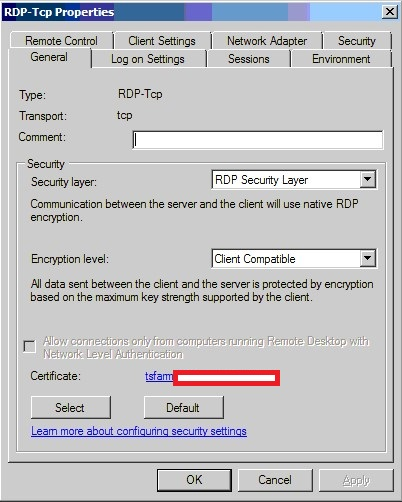 Connection problems - Windows Server 2008 R2 with gateway
