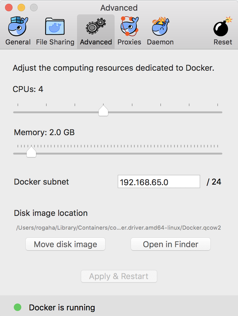 Docker for Mac should honor the memory limits · Issue #2234