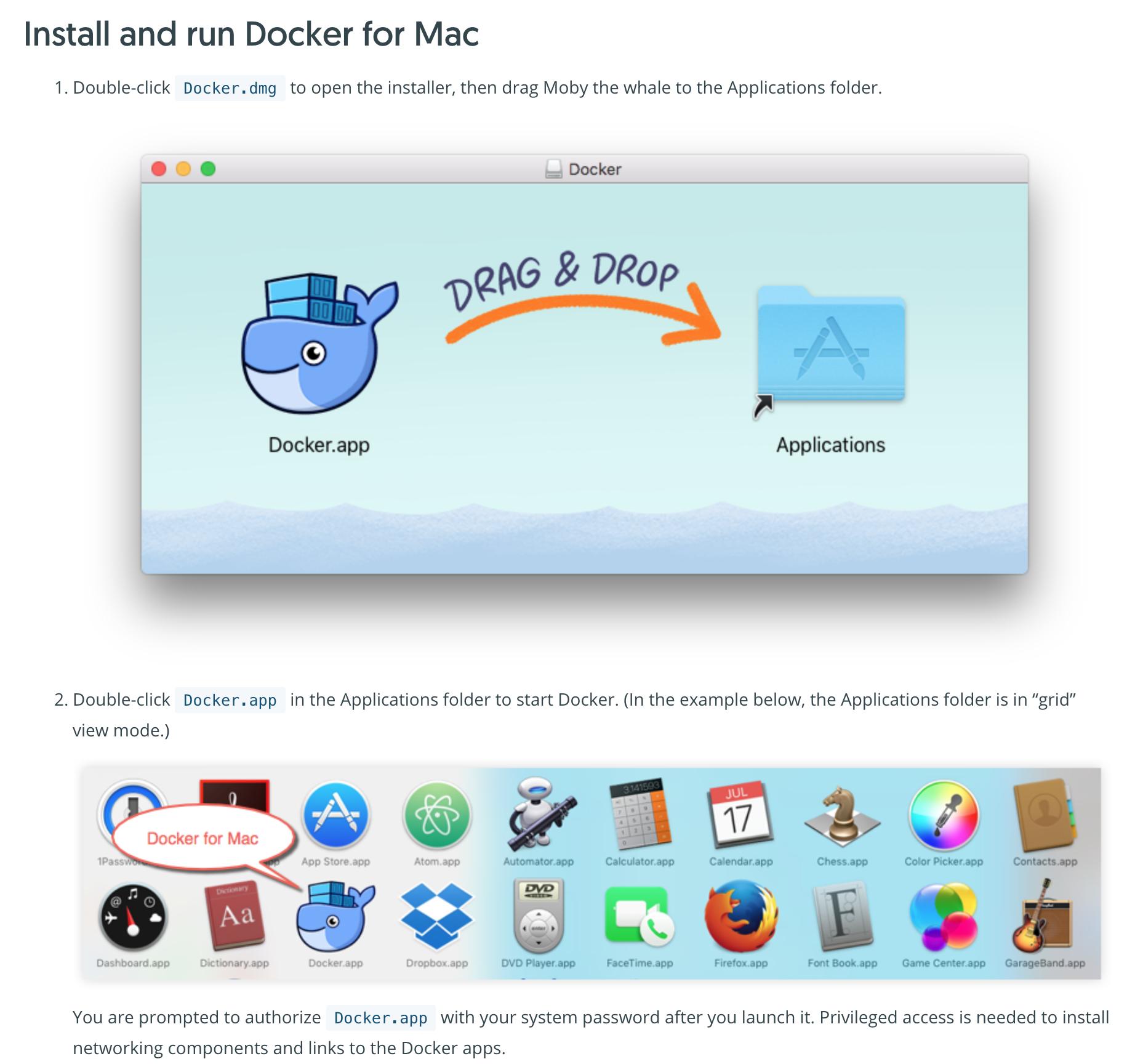 Add Docker for Mac installation process · Issue #318