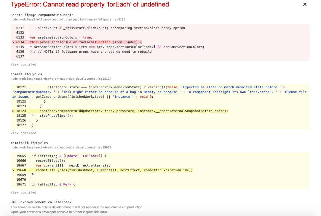 TypeError: Cannot read property 'forEach' of undefined