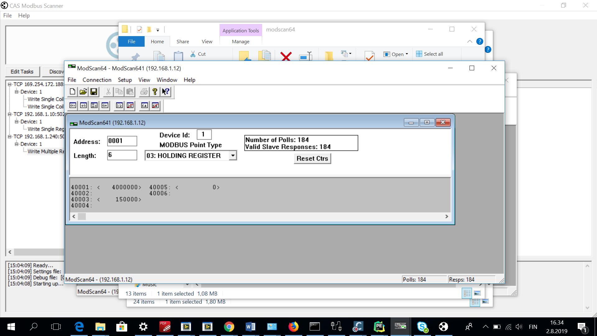 Write Single Register Modbus