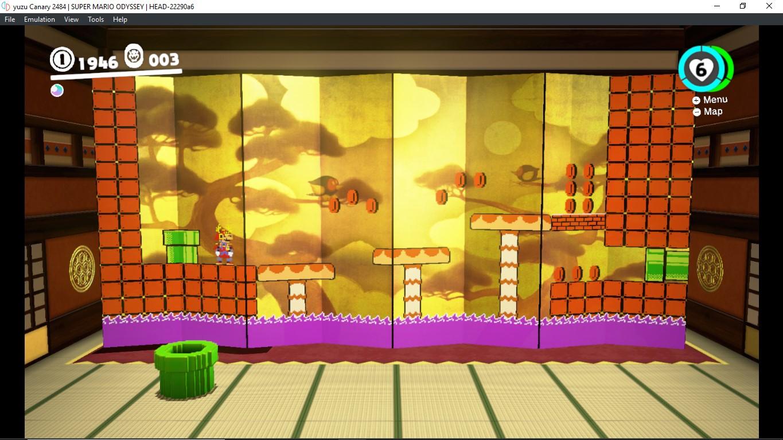 Mario Odyssey graphic glitch in the folding screen found in