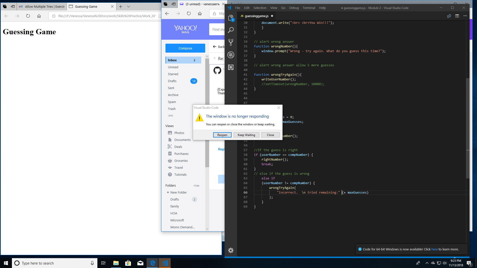 VS Code keeps crashing after update · Issue #63086 · microsoft