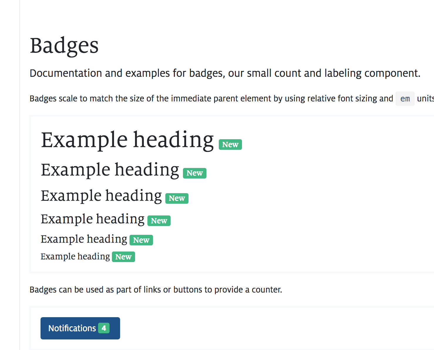 built-in Badge component styles prevent using bootstrap