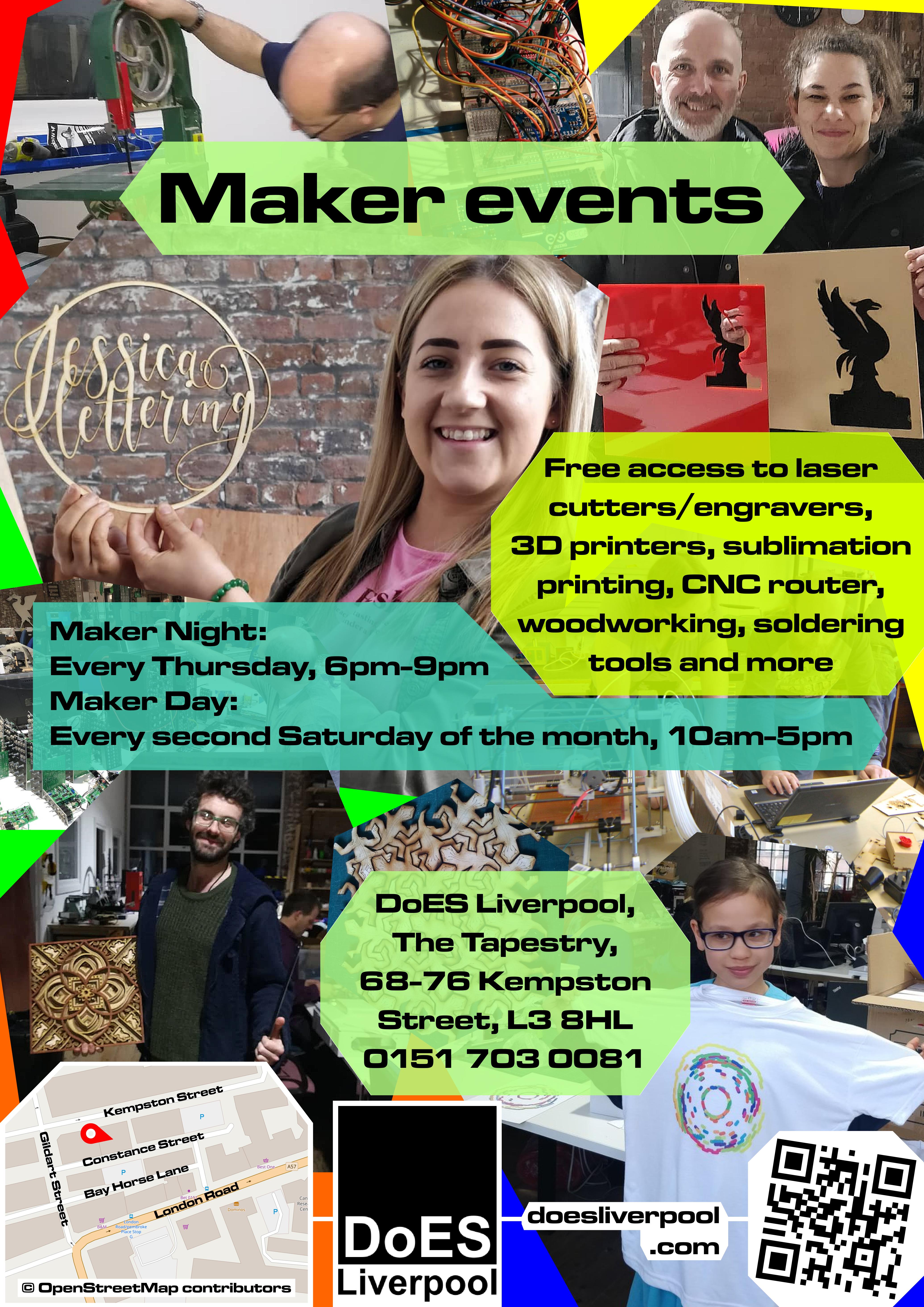 DoES poster maker events alt