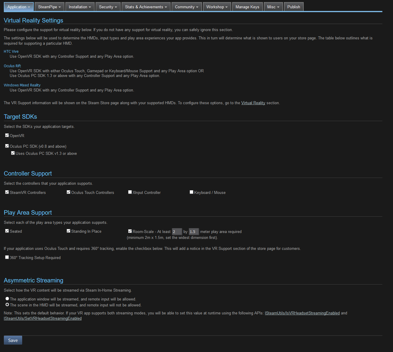 Tracking and Input completely broken in released Steam app