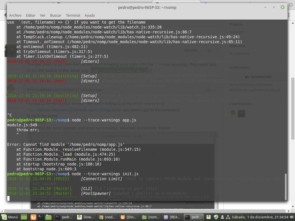 node:7999) DeprecationWarning: (node-watch) First param in