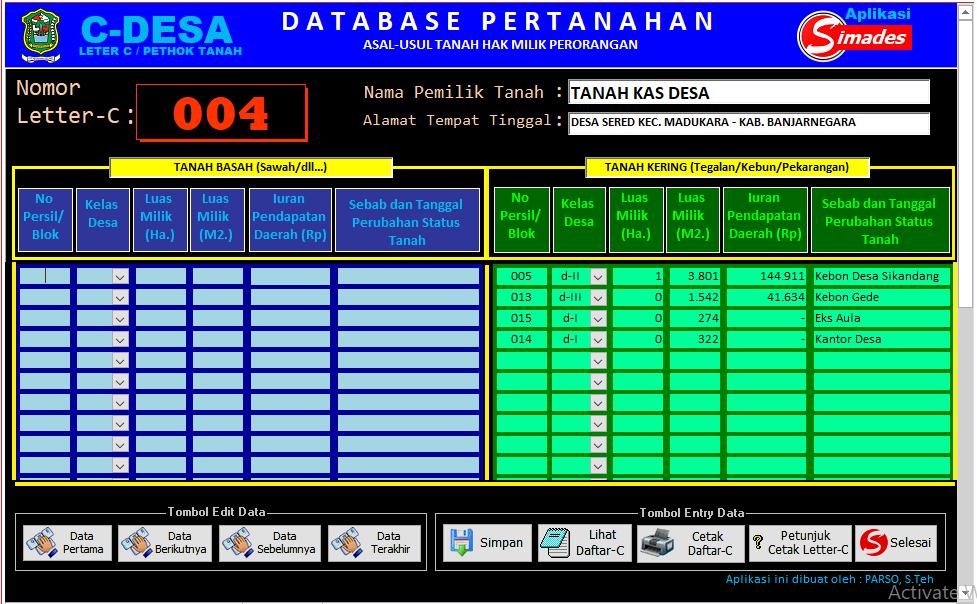 Sesuaikan Pencatatan Dan Pelaporan Data Persil Dengan C Desa Issue 2152 Opensid Opensid Github