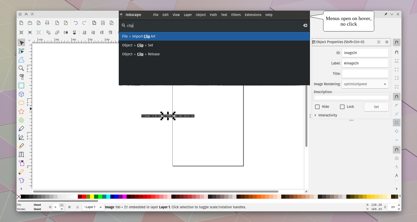 Merge actual menubar widget into the Gnome-HUD  · Issue #7