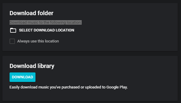 google play music download location