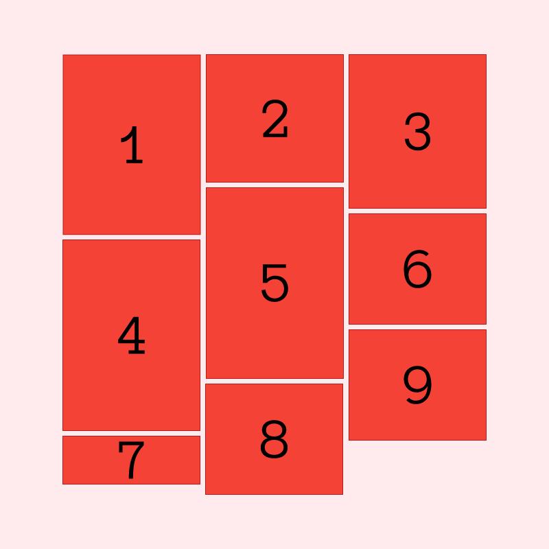 css-grid][css-flexbox] Pinterest/Masonry style layout