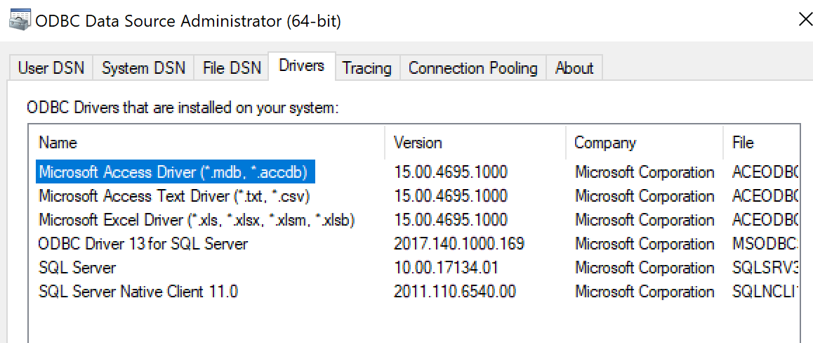 Error = [Microsoft][ODBC Driver 13 for SQL Server][SQL Server