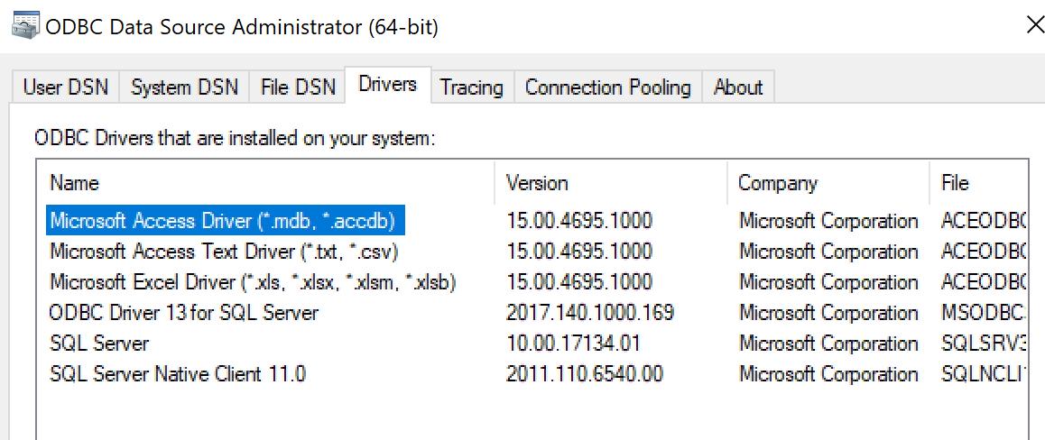 Error = [Microsoft][ODBC Driver 13 for SQL Server][SQL
