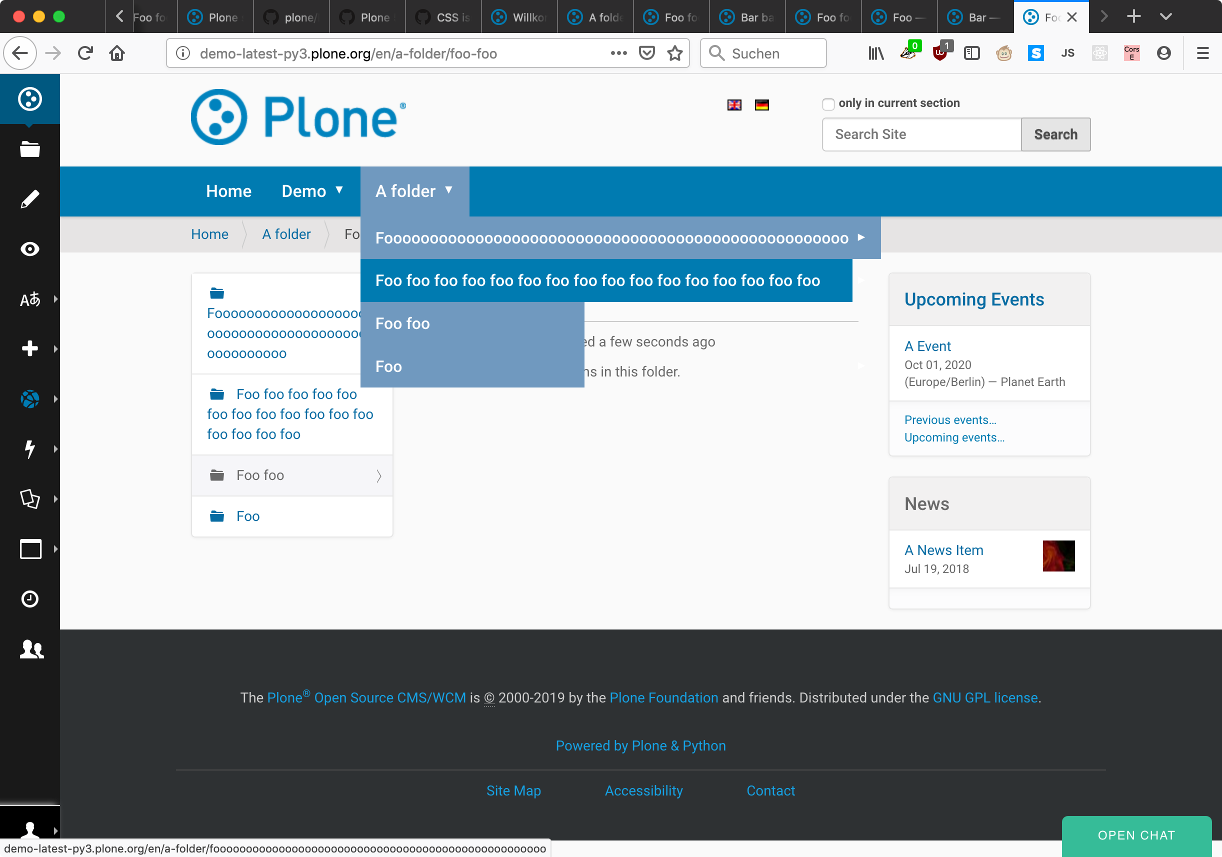 CSS issue with new dropdown menu for 2nd level navigation in Plone