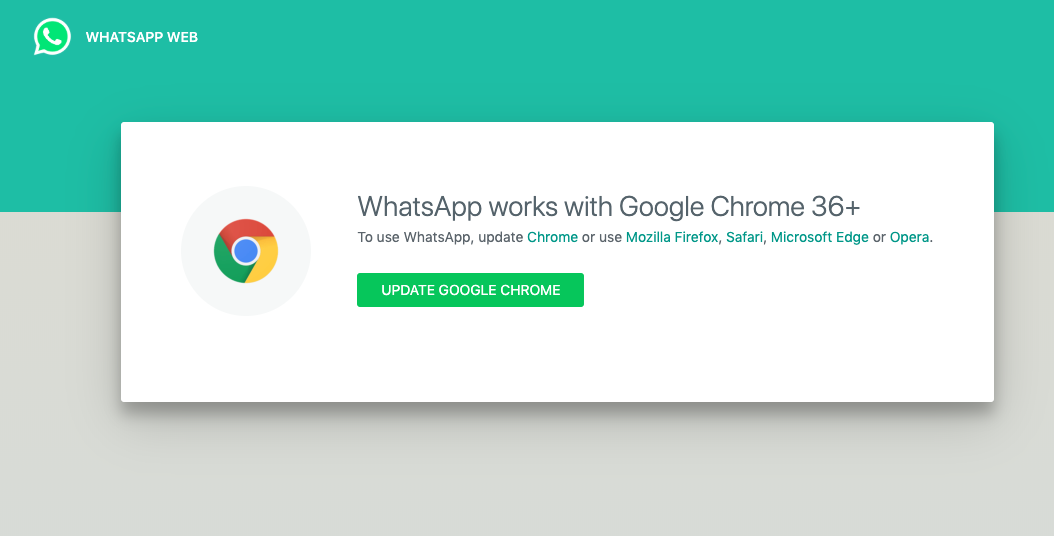 WhatsApp Web not working on nightly (works on 0 66 x