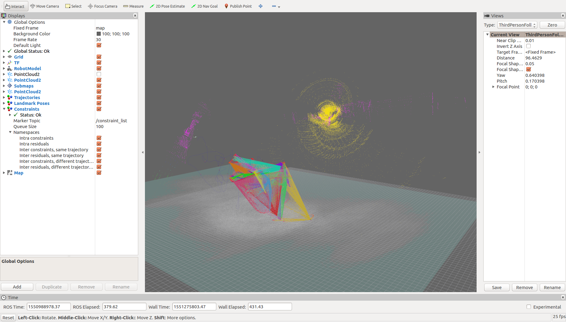 How can I get a 3D pointcloud map using cartographer